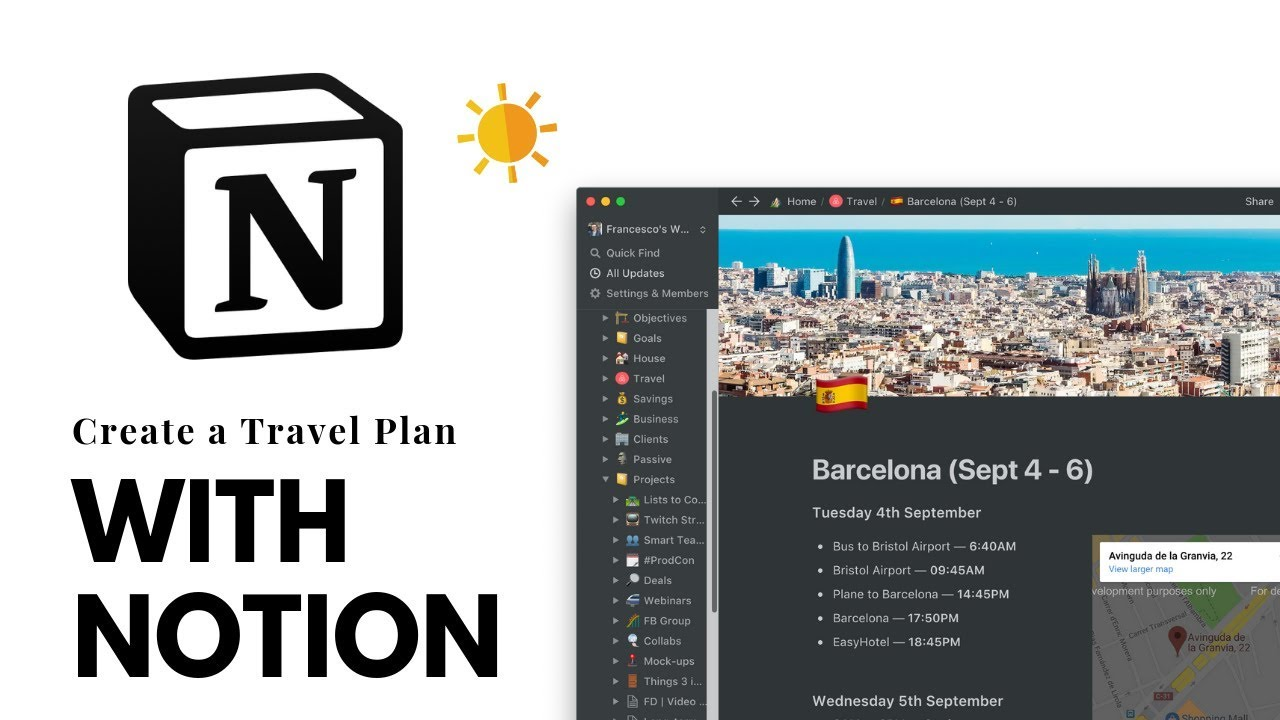 How To Create A Travel Planner In Notion
