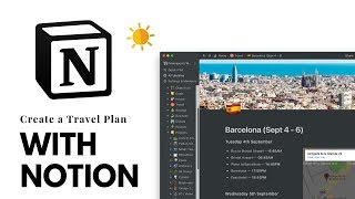 How to Create a Travel Planner in Notion screenshot 1