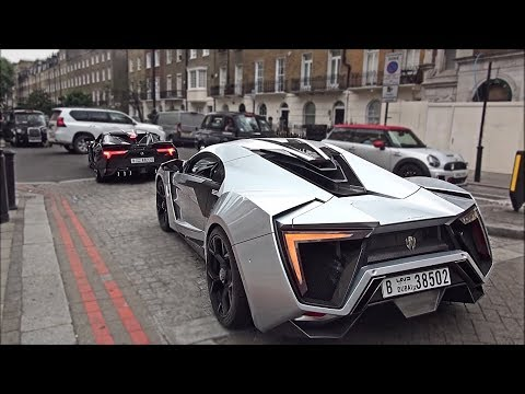 W Motors Lykan Hypersport and Fenyr Supersport driving in London and hill climb!