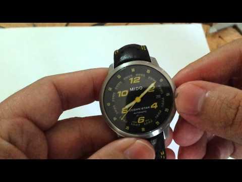 Como acertar a hora do seu relógio Mido Ocean star automático vidro Safira