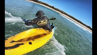 Kayak surf practice with Daniele - Sunshine Coast