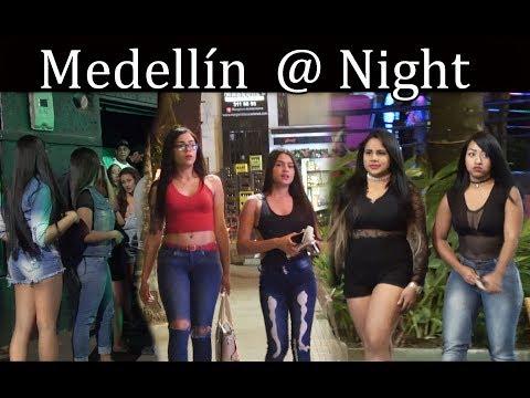 Medellin Colombia at Night -  Parque Lleras -  Dec 2017