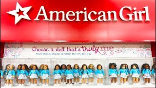 The twins see American Girl dolls at the toy store