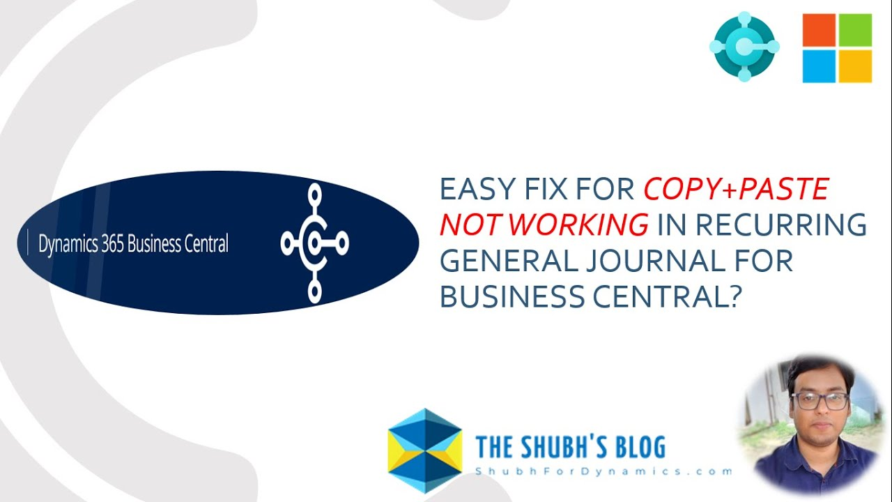 Easy fix for Copy+Paste not working in Recurring General Journal for Business Central?