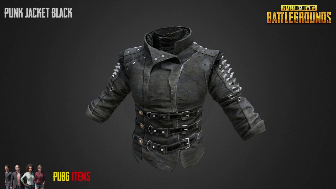 Punk Jacket Black Pubg Item Showcase Youtube