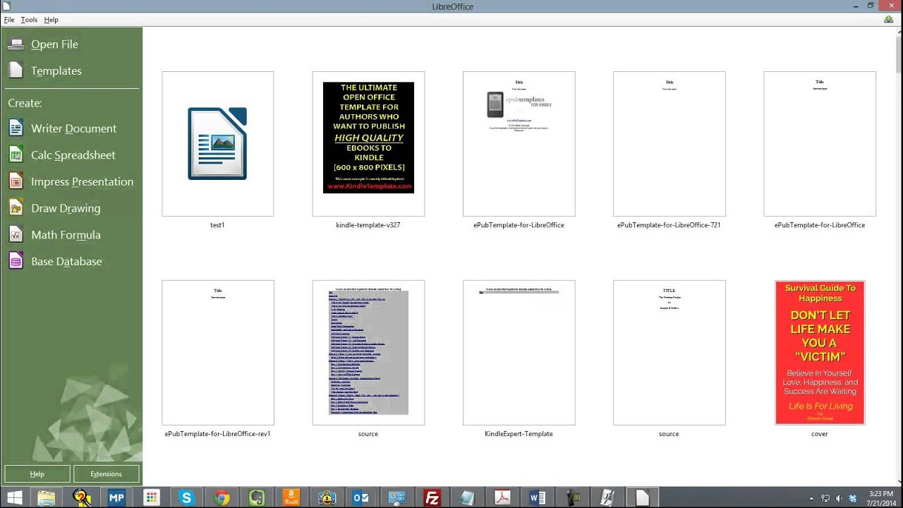 Epub Libres New Epub Template For Libre Office Users