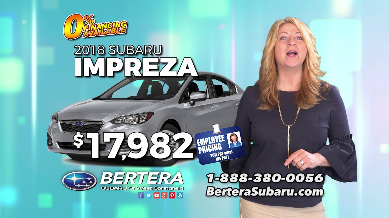 Bertera Subaru West Springfield >> Bertera Subaru Of West Springfield Employee Pricing Plus Low