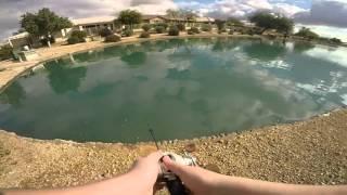 Winter Bass Fishing At Private Lake