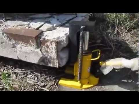 как поднять 50 тонн ? Домкрат гидравлический ДГС 50 - YouTube