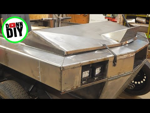 Fabricating Hood & Dashboard - Tracked Amphibious Vehicle Build Ep. 20
