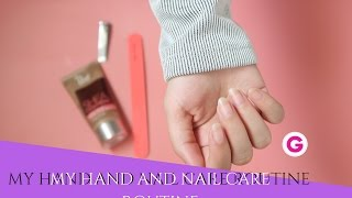 My Hand and Nail care Routine روتيني لعنايتي باليد والأظافير | Gege's life