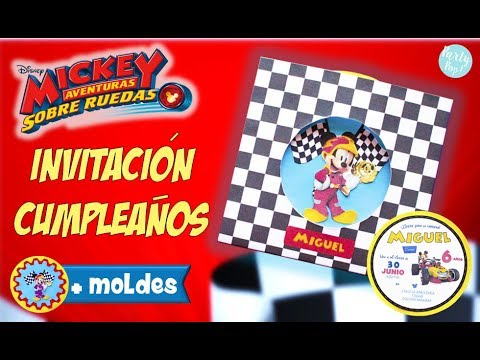 Invitación Mickey Mouse Aventuras Sobre Ruedas Manualidad Moldes Gratis Party Pop