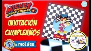 Video De Crear Invitacion Mickey Mouse Invitacion Feliz