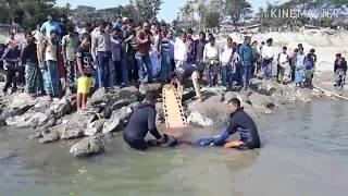Dead body rescue from barrak river