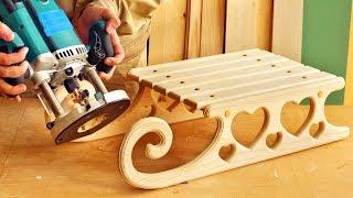 Изготовление и фрезерование деревянных саней, Making And Milling Wooden Sledges