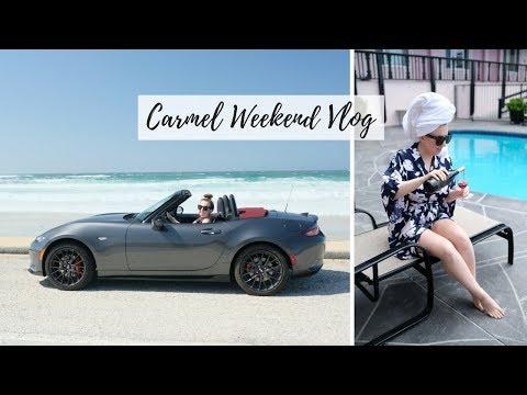 CARMEL TRAVEL VLOG ☀️ Hofsas House, Pebble Beach, 17 Mile Drive in 2018 Mazda MX-5 Miata, Sea Otters