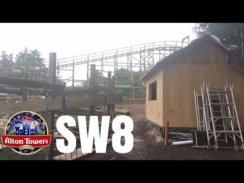 Alton Towers SW8 Construction Update - 14th August 2017