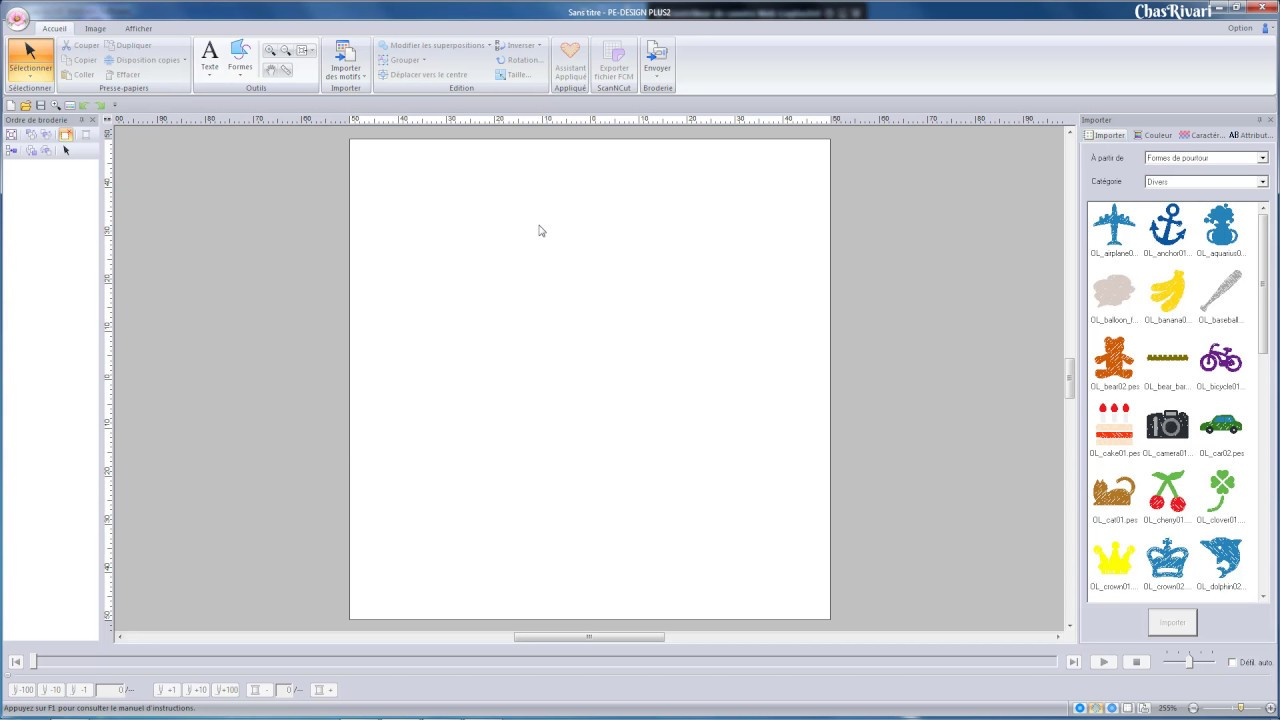 d233couverte du logiciel de broderie pe design plus2 de