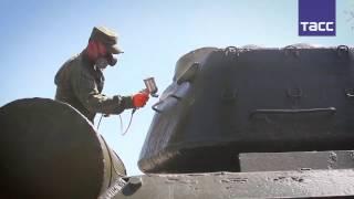 Военные провели ремонт танков времен Великой Отечественной войны