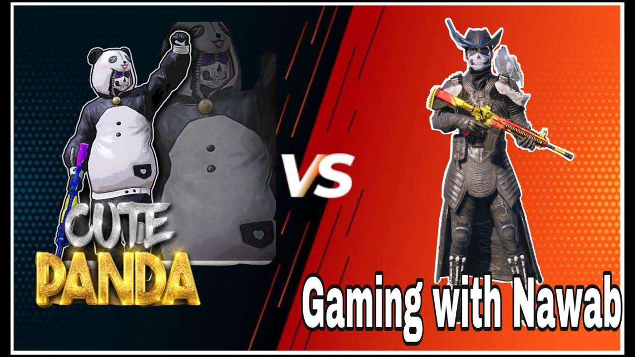 10 years old Cute Panda vs Gaming with Nawab   Cute panda   Pubg mobile