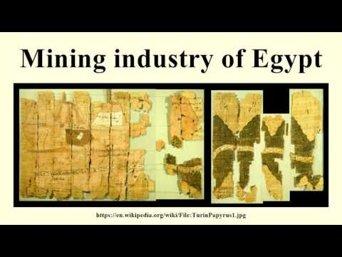 Mining industry of Egypt