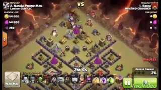Clash of Clans - Strategi Attack Clan War 3 Stars COC TH9 (Golem , Wizard , Balloons & Lava Hound)