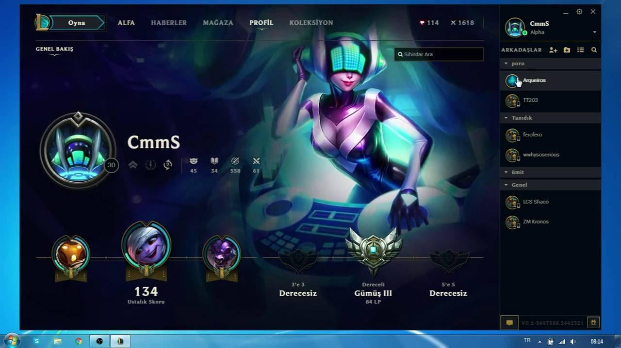 League of Legends - Alpha - Profile