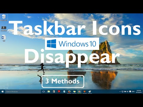 "Fix: ""Taskbar Icons Disappear in Windows 10"" [3 Methods]"