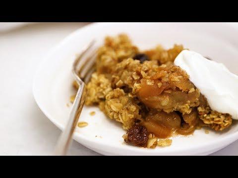 Vegan Apple Oat Crisp- Healthy Appetite with Shira Bocar