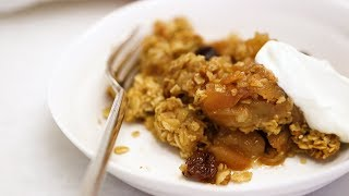 Vegan Apple Oat Crisp Video- Healthy Appetite with Shira Bocar
