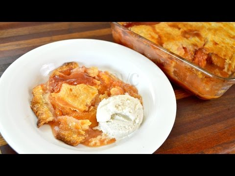 FRESH Peach Cobbler Recipe |How To Make Peach Cobbler With Fresh Peaches |Cooking With Carolyn