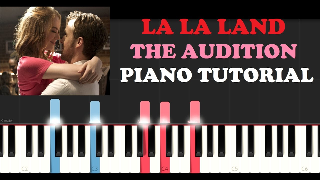 la la land the audition piano tutorial youtube. Black Bedroom Furniture Sets. Home Design Ideas