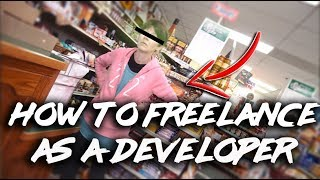How to FREELANCE as a developer - REAL footage of how I got a client