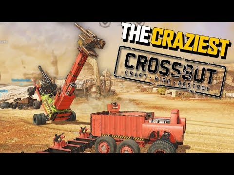 Crossout The CRAZIEST & Derpiest Crossout Vehicles FUNNY Moments (Crossout Open Beta Gameplay Part 4