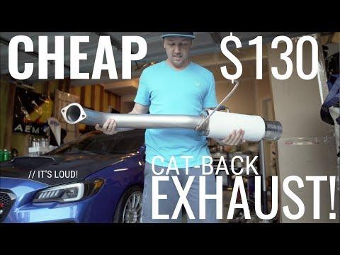 THE CHEAPEST CAT-BACK EXHAUST FOR 2015-2019 SUBARU WRX/STI | AMAZON/eBay FIND!