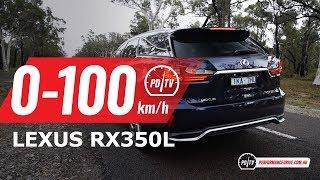 2018 Lexus RX350L 0-100km/h & engine sound