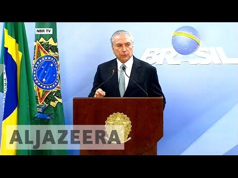 Congress rejects corruption charges against Brazil President Michel Temer