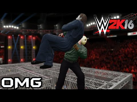 WWE 2K16 Mods Jason Voorhees vs Michael Myers (Hell in a Cell)