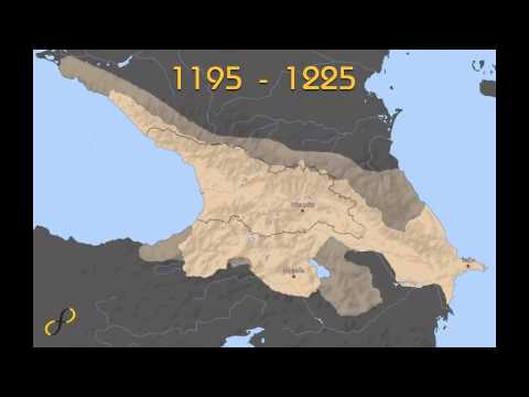 Georgia (country) territorial history for last 1000 years
