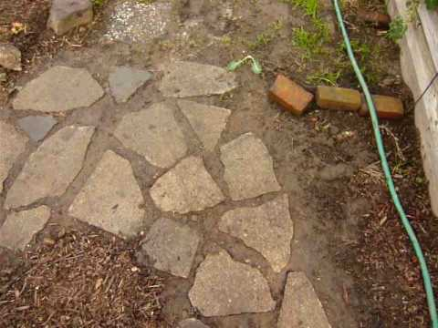 Recycled Concrete: Urbanite Pathway Install   YouTube