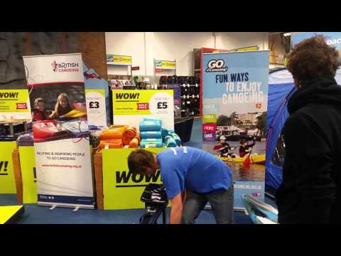 100 Metre Kayak Ergo Challenge at Go Outdoors Plymouth