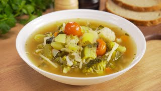Минестроне Minestrone Знаменитый итальянский суп из овощей за 30 минут Рецепт от Всегда Вкусно