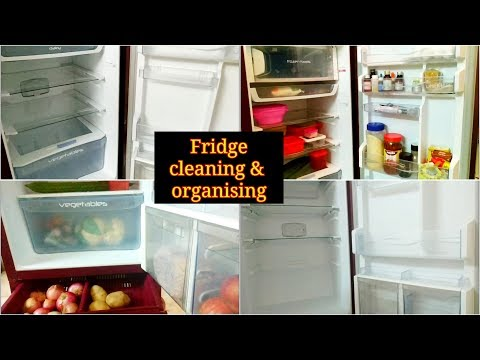 Fridge cleaning and organising || Tips ||Refrigrator deep cleaning||maha vlogs