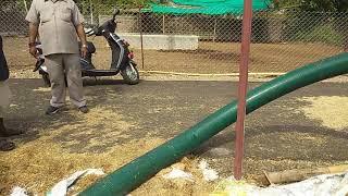 भूसा मशीन से 220 फुट की दूरी तक परिवहन । कृषि भारत भारती