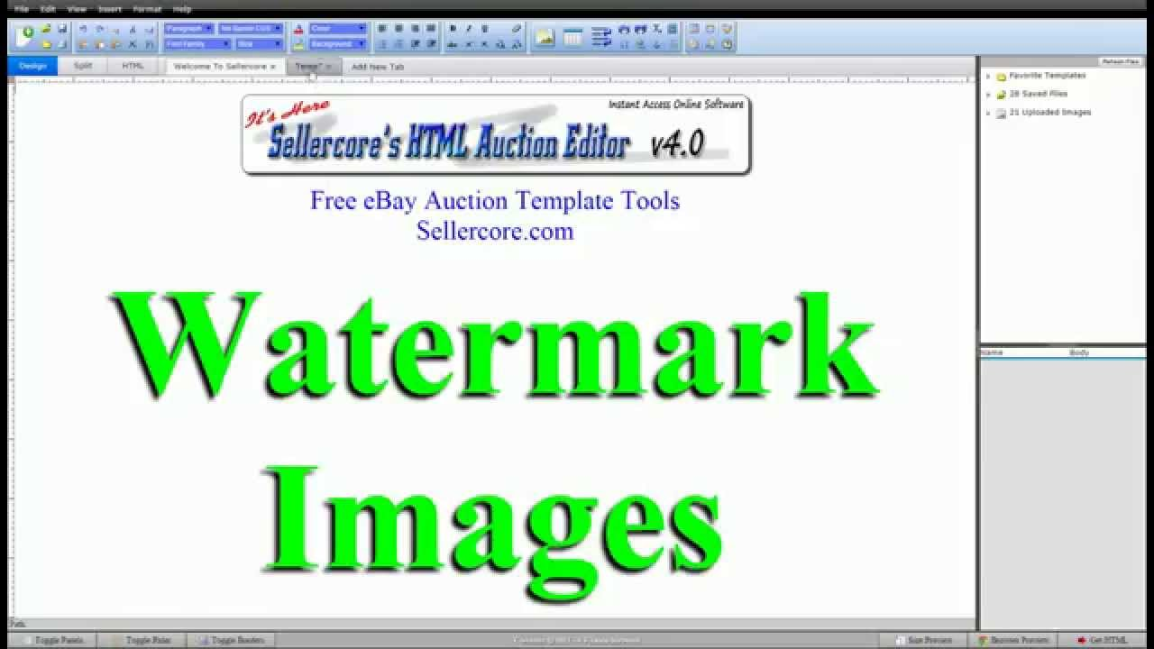 How To Watermark Images For eBay Templates - Step by Step Tutorial ...