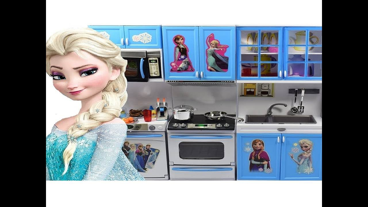Disney Frozen Luxury Kitchen Toy Set Princess Anna Elsa Cooking