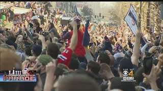 Patriots Celebrate With Fans In Streets Of Boston