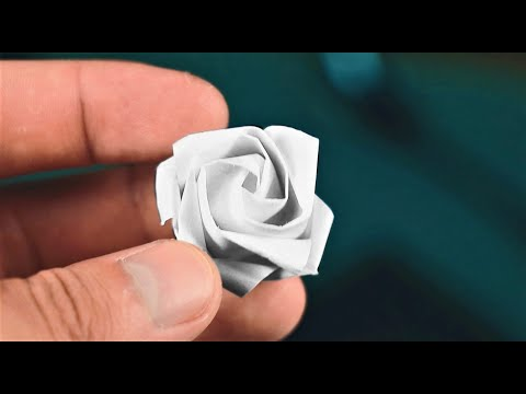 How to Make a Origami Rose One-Handed