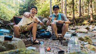 ハプニング続きのデイキャンプ!【清流へアラフォー旅VLOG】