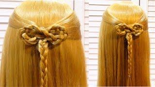 Легкая прическа в школу  Easy school hairstyle